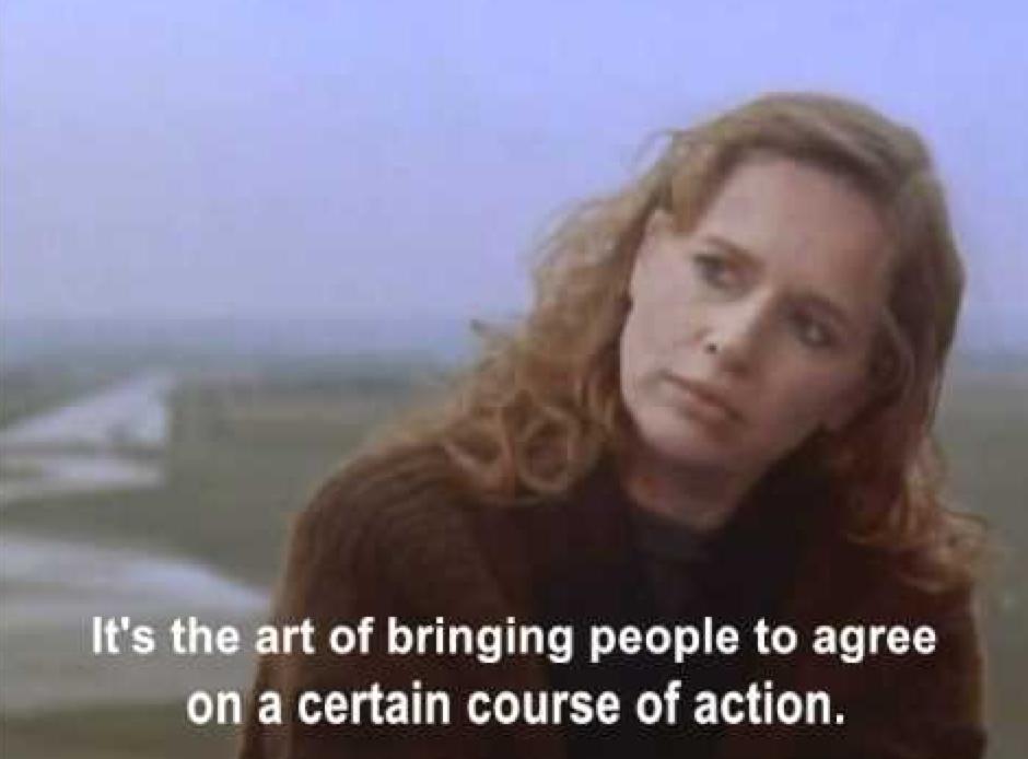screenshot from the movie, Mindwalk